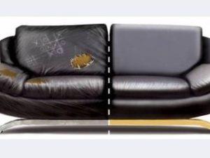 Перетяжка кожаного дивана в Перми