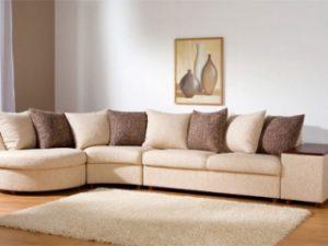 Перетяжка углового дивана на дому в Перми